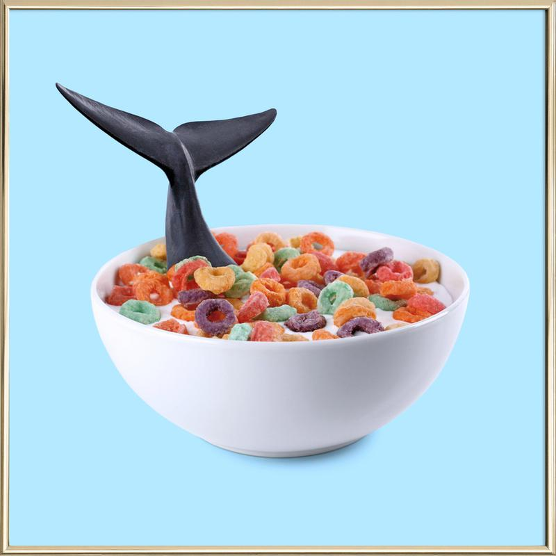 Whale Cereal -Poster im Alurahmen