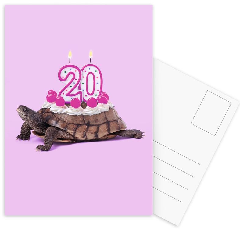 20 Turtle Postcard Set