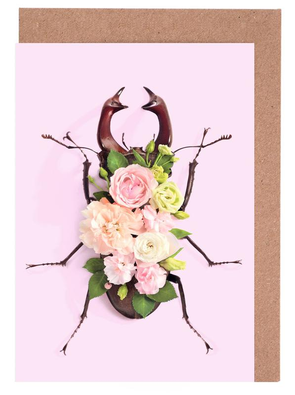 Floral Beetle Greeting Card Set
