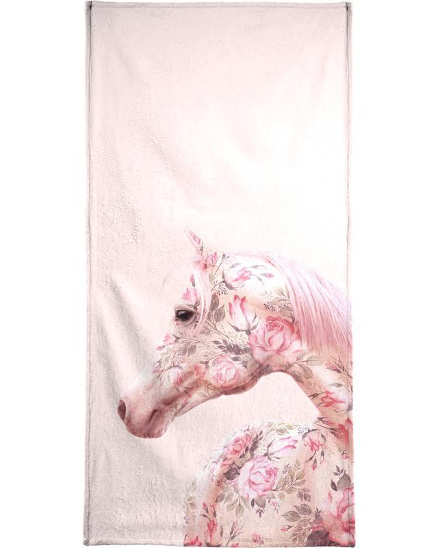 Floral Horse serviette de plage
