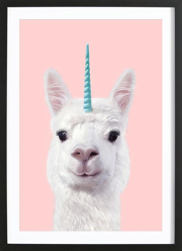 Alpaca Unicorn Framed Print