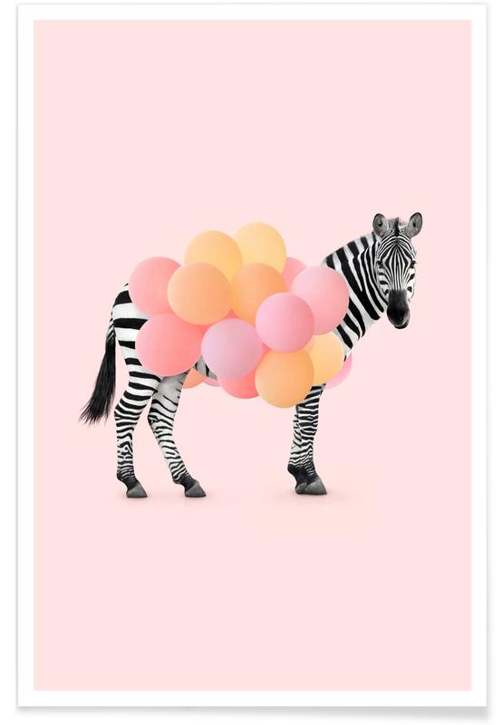 Zebra Balloon poster