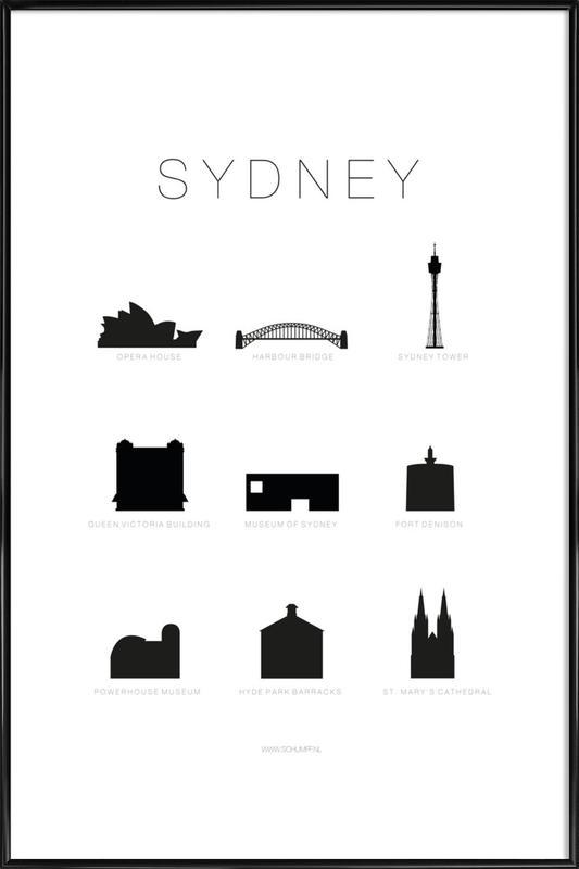 Sydney ingelijste poster