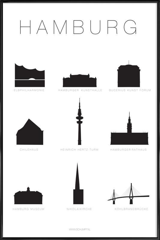 Hamburg Framed Poster
