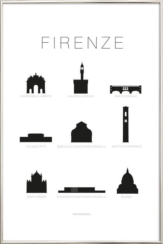 Firenze -Poster im Alurahmen