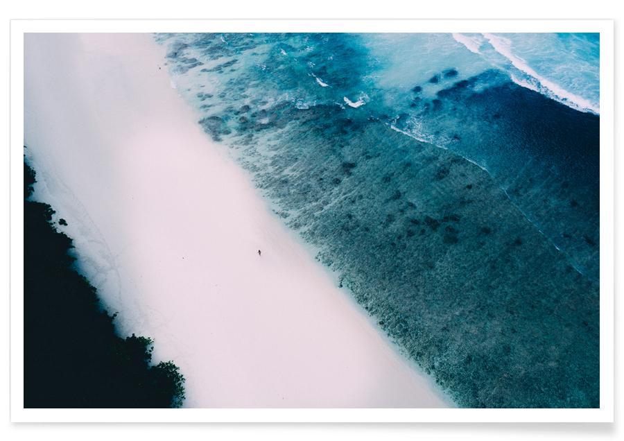 Tropische foto - strand poster