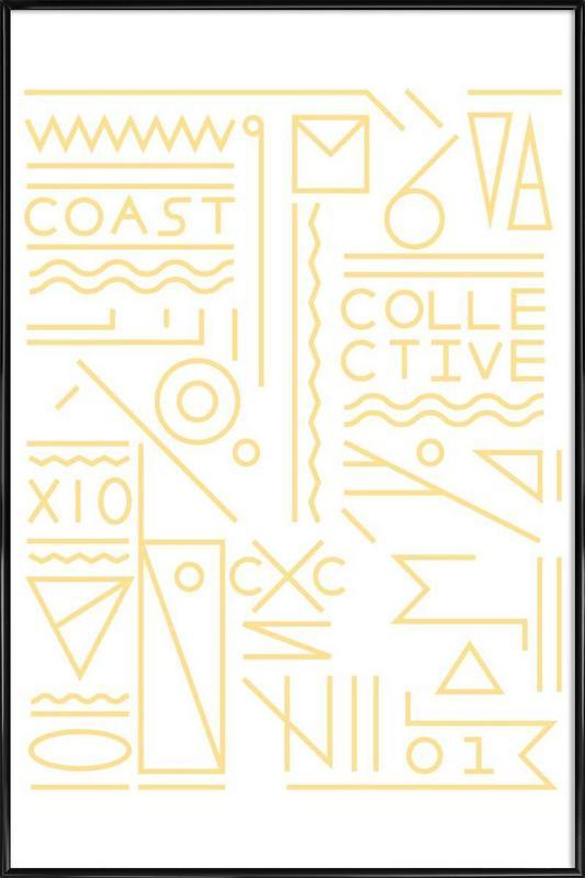 Coast ingelijste poster