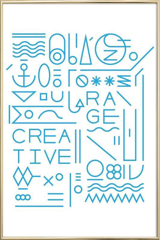 Creative affiche sous cadre en aluminium