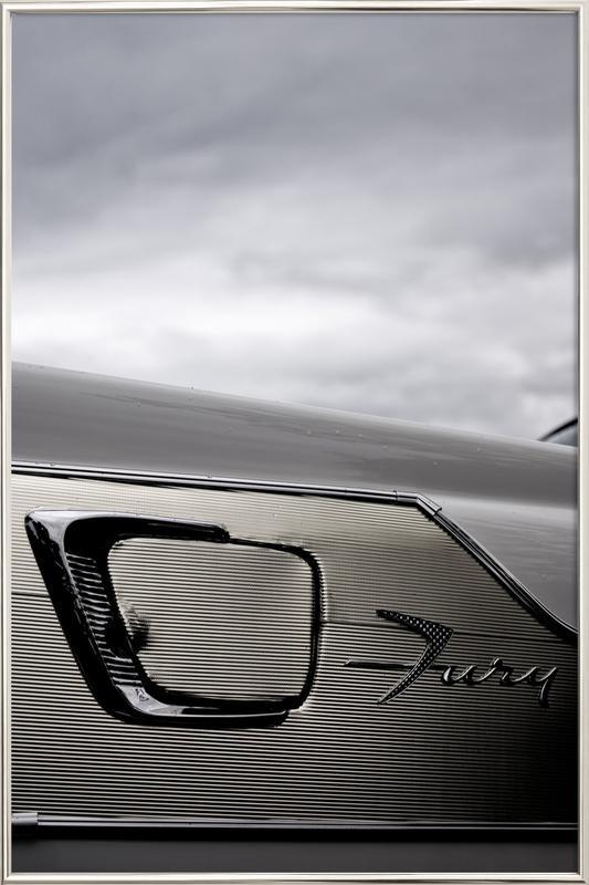 Plymouth Fury -Poster im Alurahmen
