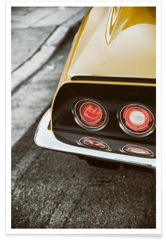 Korvette-Gelb-Fotografie -Poster