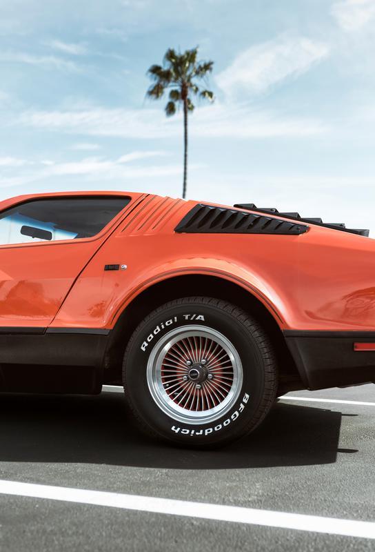 1975 Orange -Acrylglasbild