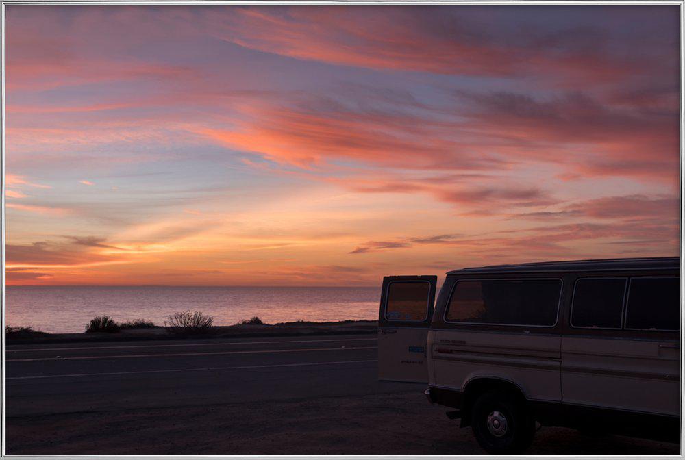 Cali Sunset -Poster im Alurahmen