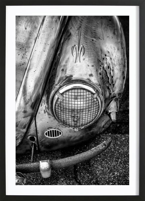 Silver Beetle -Bild mit Holzrahmen