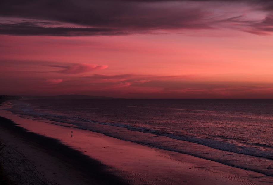 Sunset Walker -Acrylglasbild