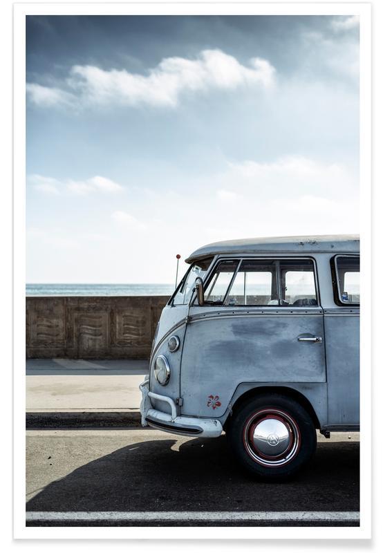Wolfsburg Surf Blue Poster