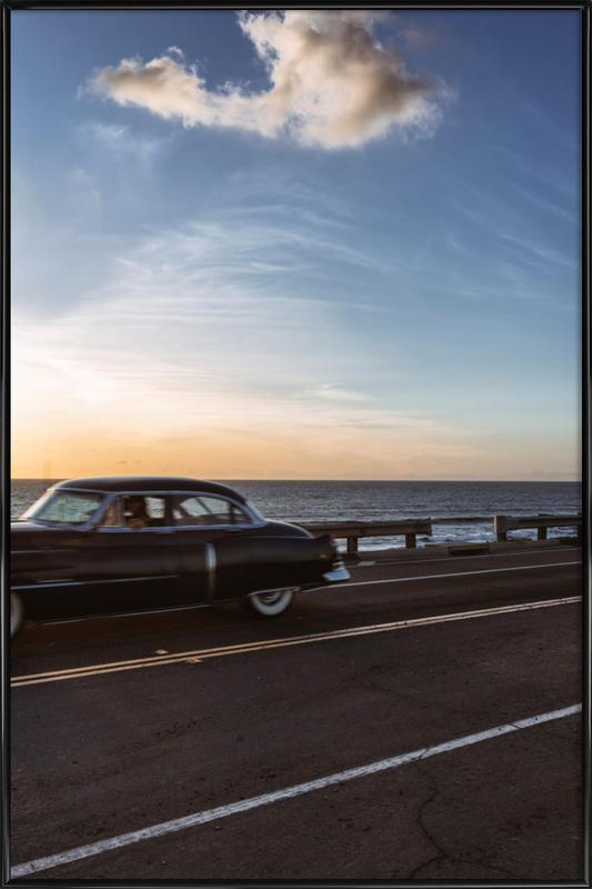Cadillac Sunset Cruise II Framed Poster