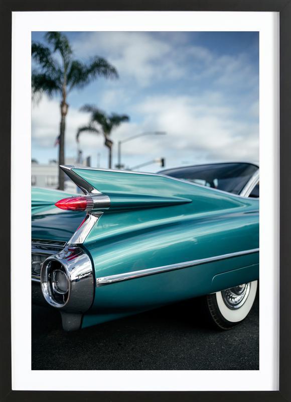 Cadillac Queen -Bild mit Holzrahmen