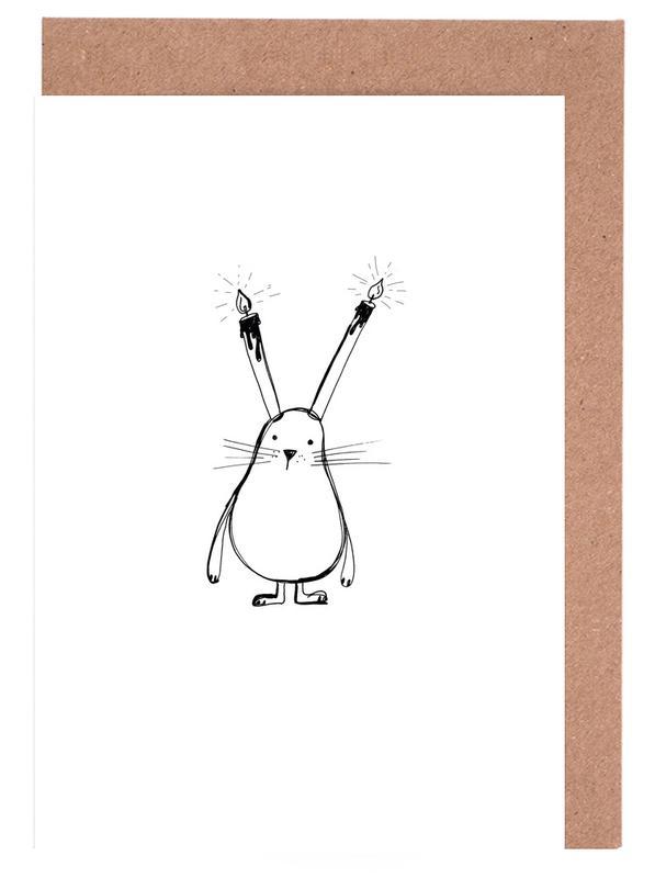 B-Day Bunny -Grußkarten-Set