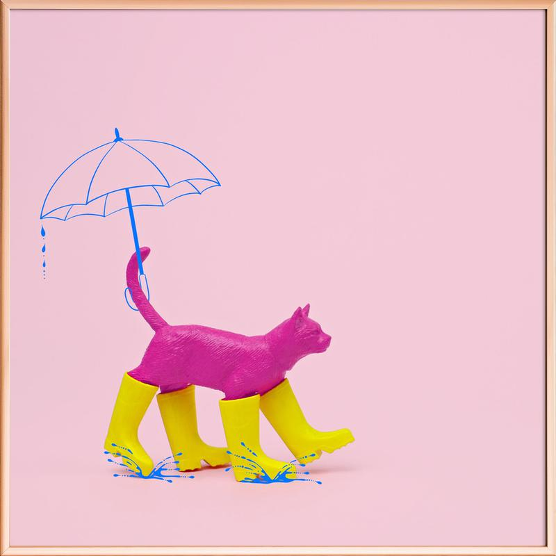 Puss in [Rain] Boots Poster in Aluminium Frame