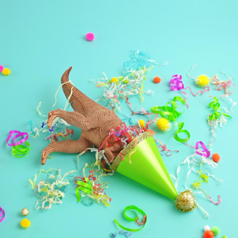 Dinosaur Party -Leinwandbild