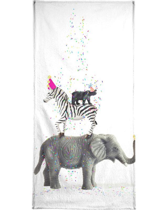 Party Animals Bath Towel