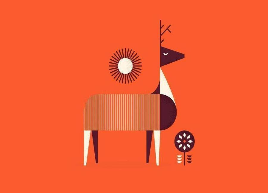 Deer -Leinwandbild