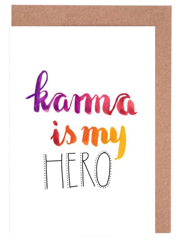 Karma -Grußkarten-Set