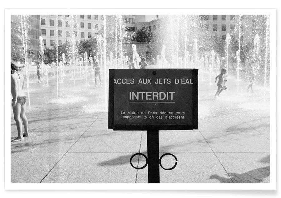 Jet interdit black & white Poster