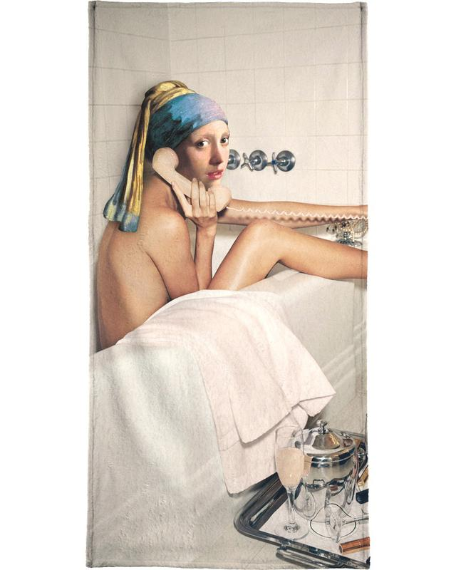 Girl with Pearl Earring Bath time -Handtuch