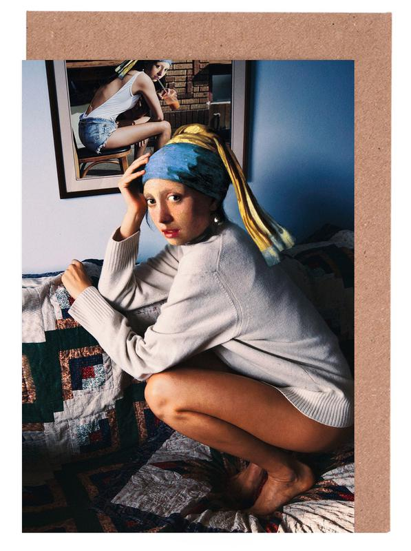 Girl with Pearl Earring Double -Grußkarten-Set