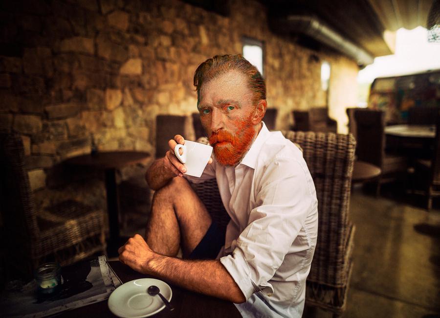 Van Gogh coffee time -Leinwandbild