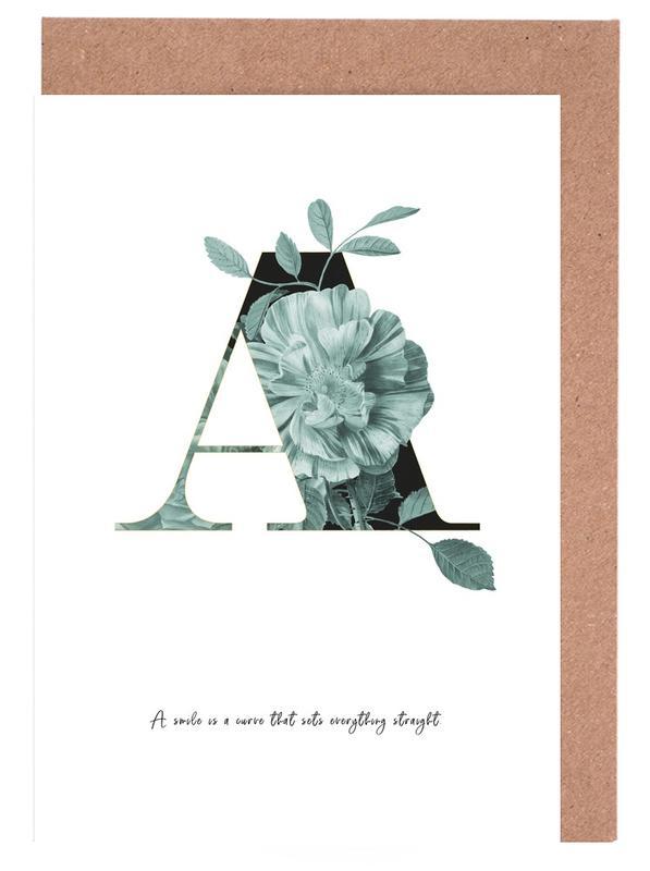 Flower Alphabet - A cartes de vœux