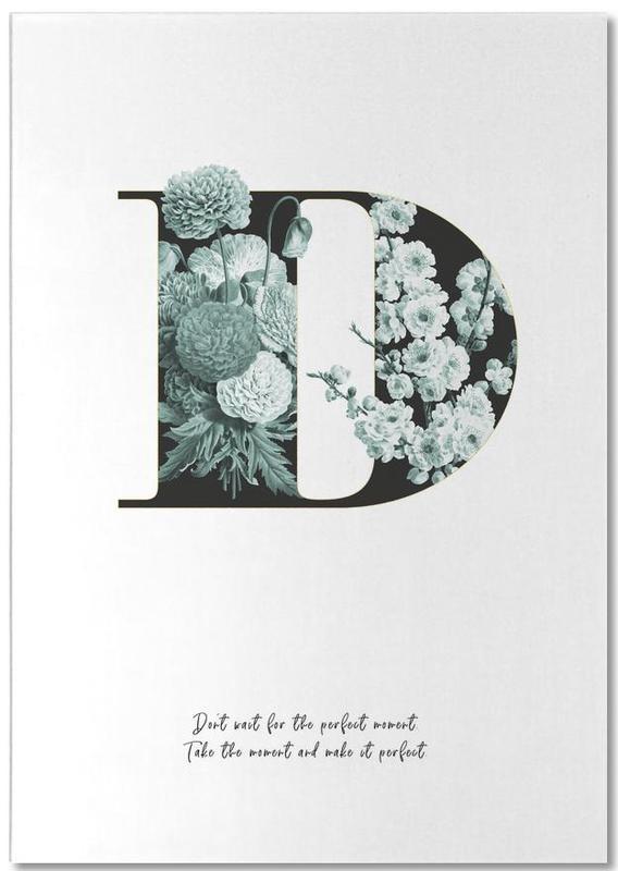 Flower Alphabet - D bloc-notes