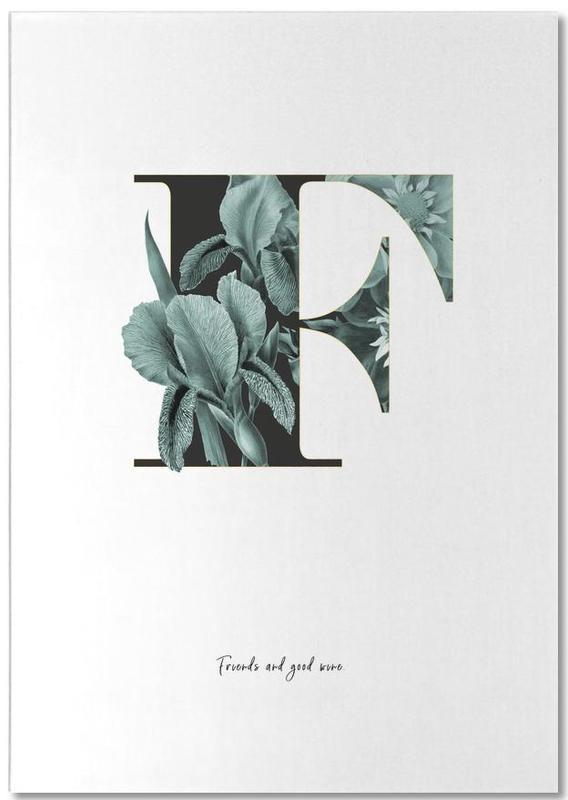 Flower Alphabet - F Notepad