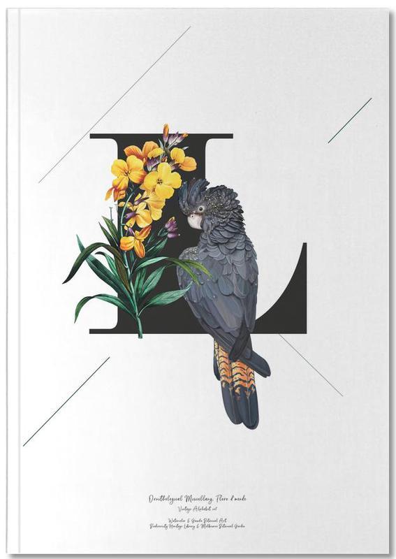 Botanical Alphabet - L Notebook