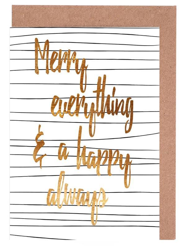 Merry Always -Grußkarten-Set