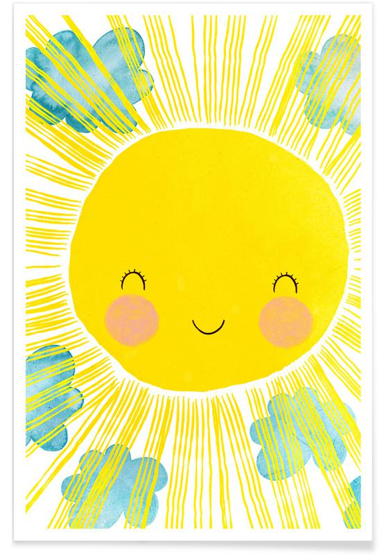 Sonne-Illustration -Poster