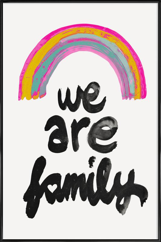 We Are Family -Bild mit Kunststoffrahmen