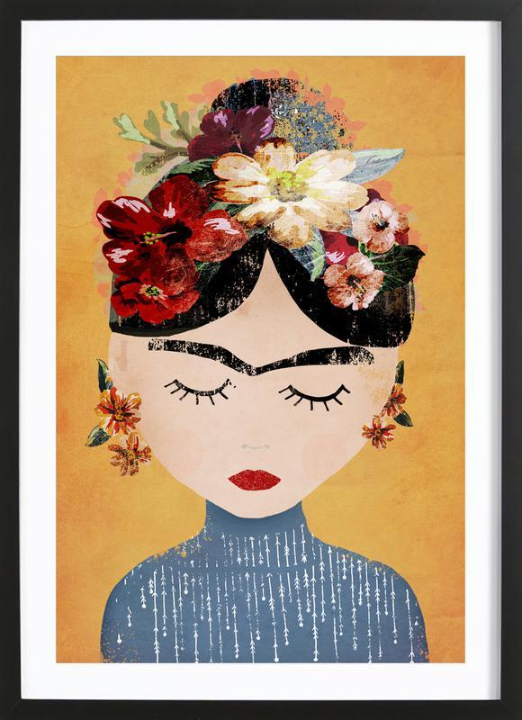 Frida ingelijste print