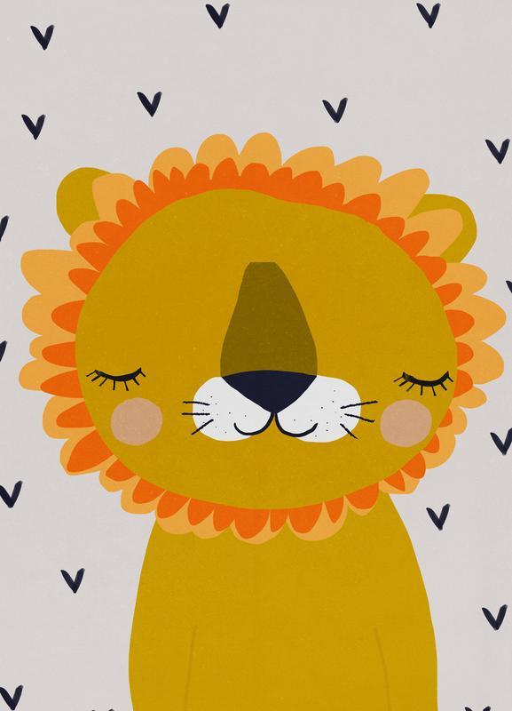 Löwe -Leinwandbild