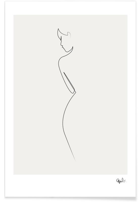 Nude Line Drawing Plakat