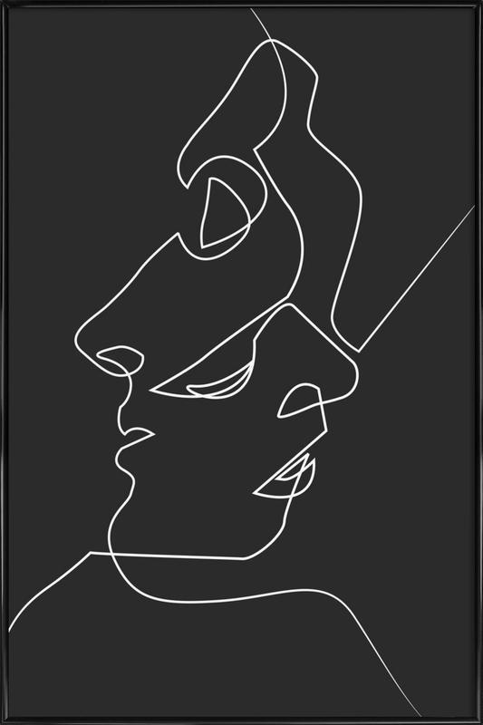 Close Noir affiche encadrée