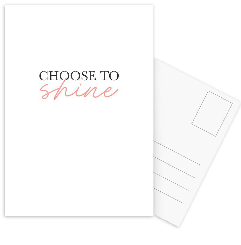 Choose To Shine cartes postales