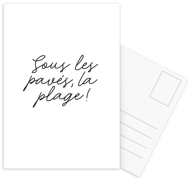 La Plage Postcard Set