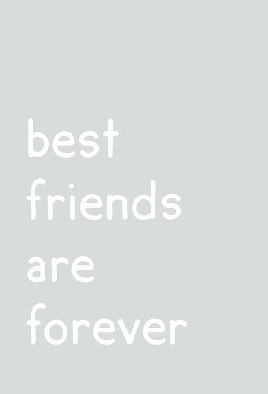 Friendship Impression sur alu-Dibond