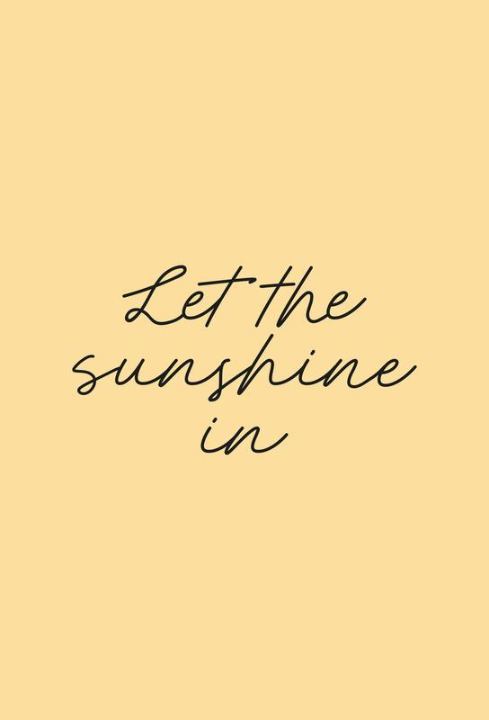 Let The Sunshine In Aluminium Print
