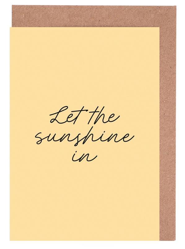 Let The Sunshine In -Grußkarten-Set