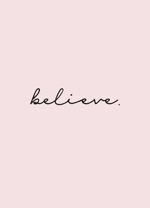 Believe toile