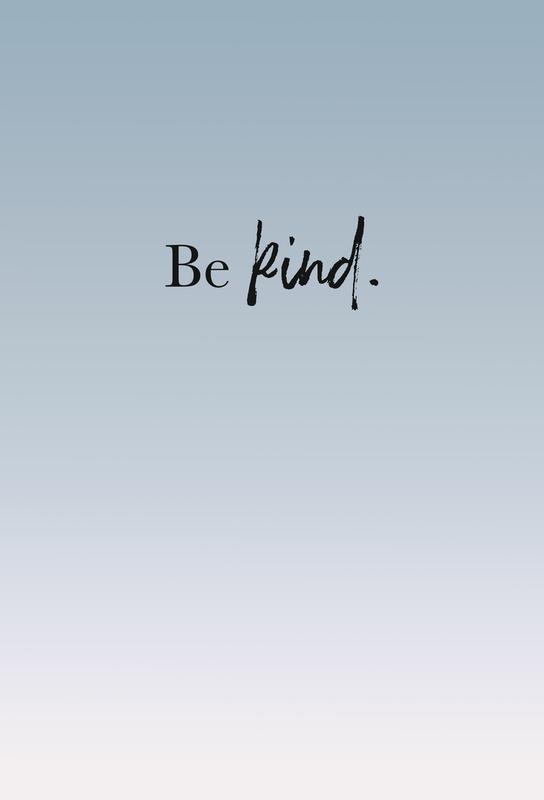 Be Kind Aluminium Print