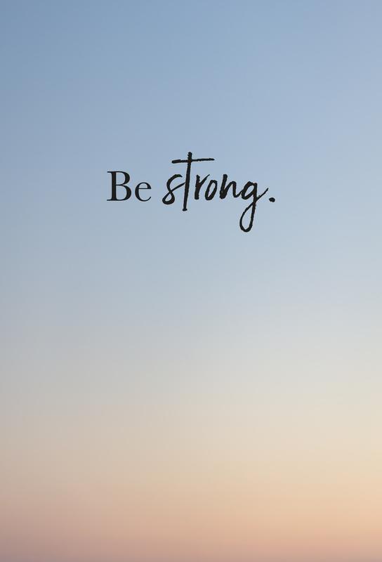 Be Strong tableau en verre